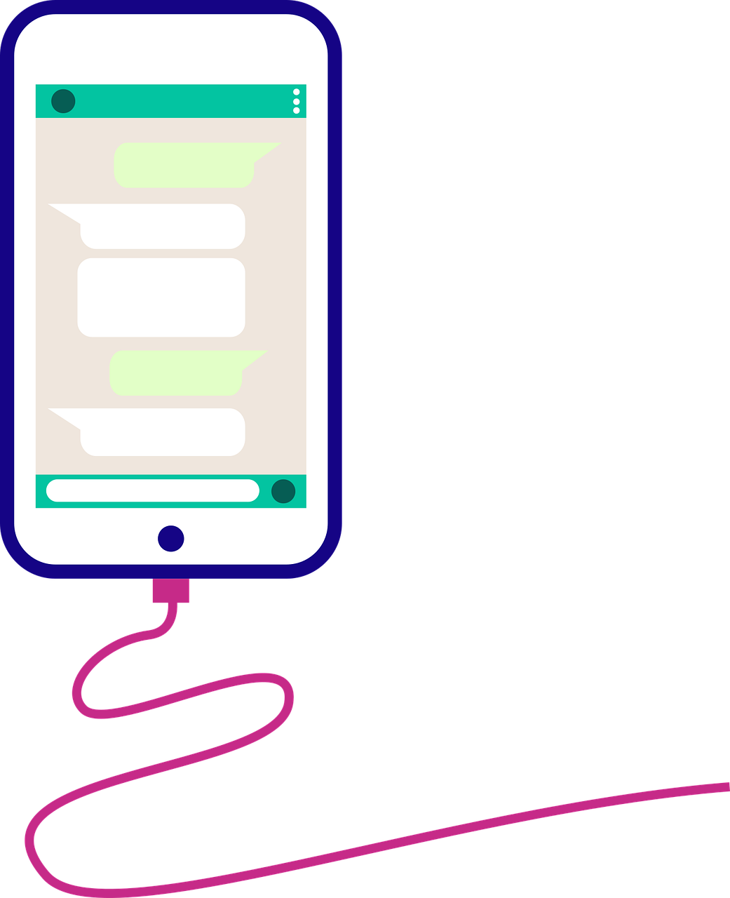 Phone Screen Chat Cable Charger  - febrianes86 / Pixabay